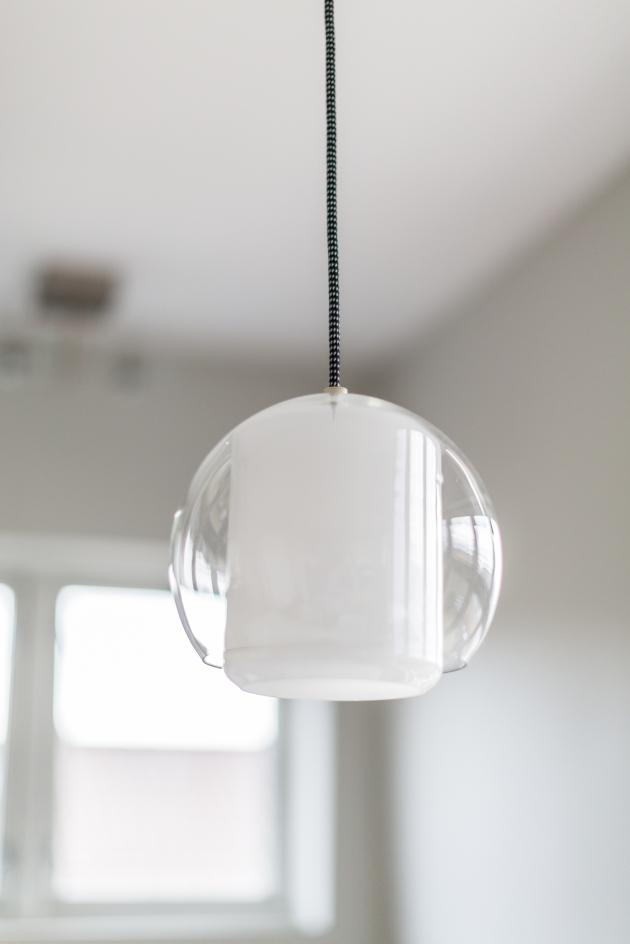glasslampe hjemme hos