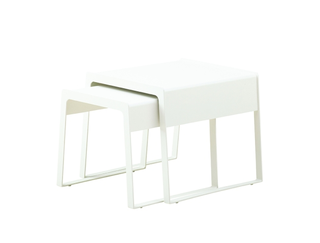Berle ChillOut-sidetables-white caneline