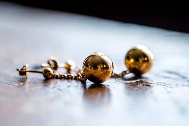 Arven øredobb gull